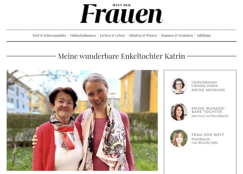 Meine wunderbare Enkeltochter Katrin Oberrauner